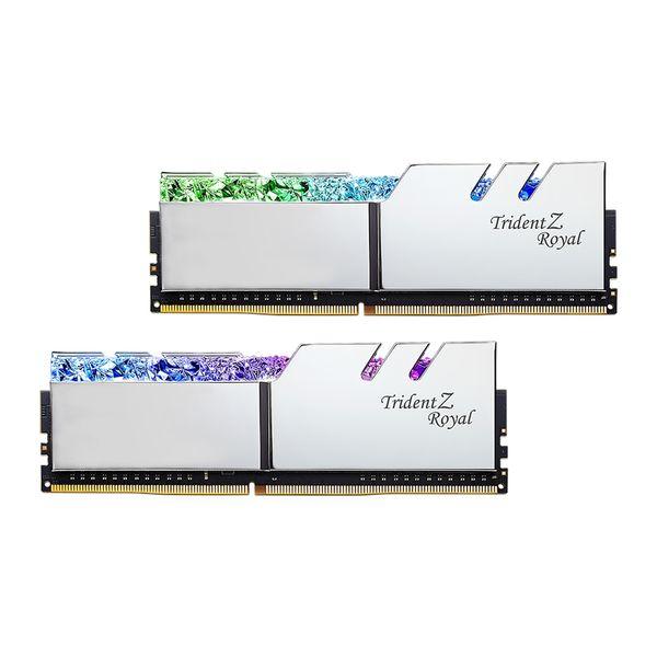 رم دسکتاپ DDR4 دو کاناله 3200 مگاهرتز CL16 جی اسکیل مدل Trident Z Royal Silver ظرفیت 32 گیگابایت