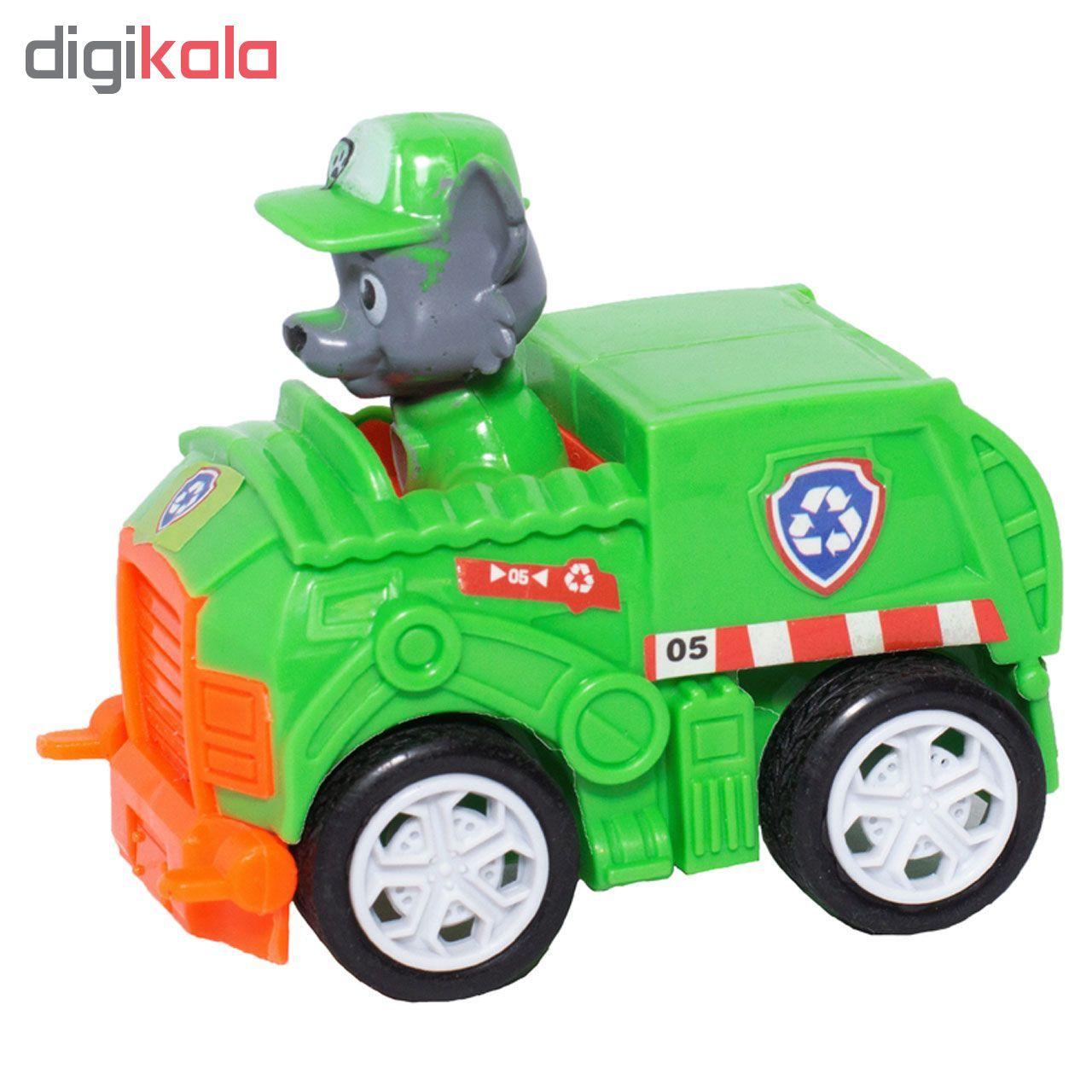 ماشین بازی طرح سگ های نگهبان مدل ROCKY کد 06