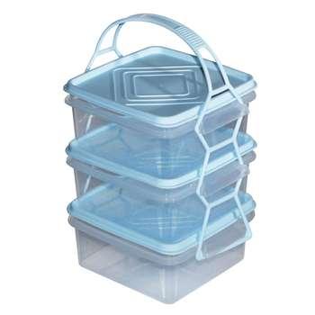 ظرف نگهدارنده تک پلاستکار قائم مدل Loren بسته 3 عددی