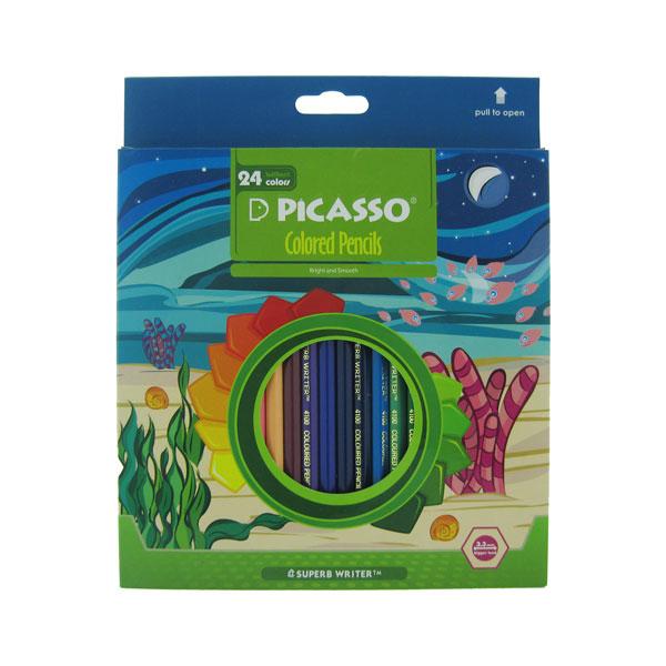 مداد رنگی 24 رنگ پیکاسو مدل aqua water