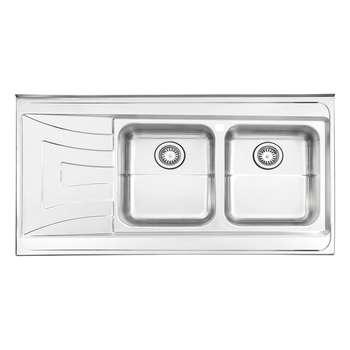 سینک ظرفشویی استیل البرز کد 736 روکار