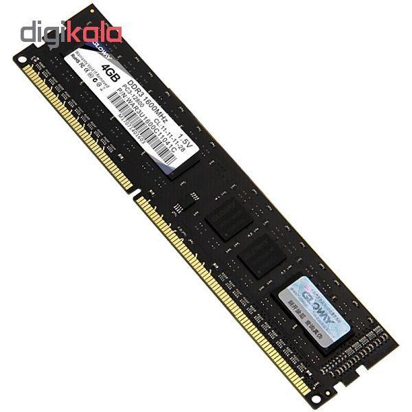 رم دسکتاپ DDR3 تک کاناله 1600 مگاهرتز CL11اگلووی مدل STK ظرفیت 4گیگابایت main 1 1