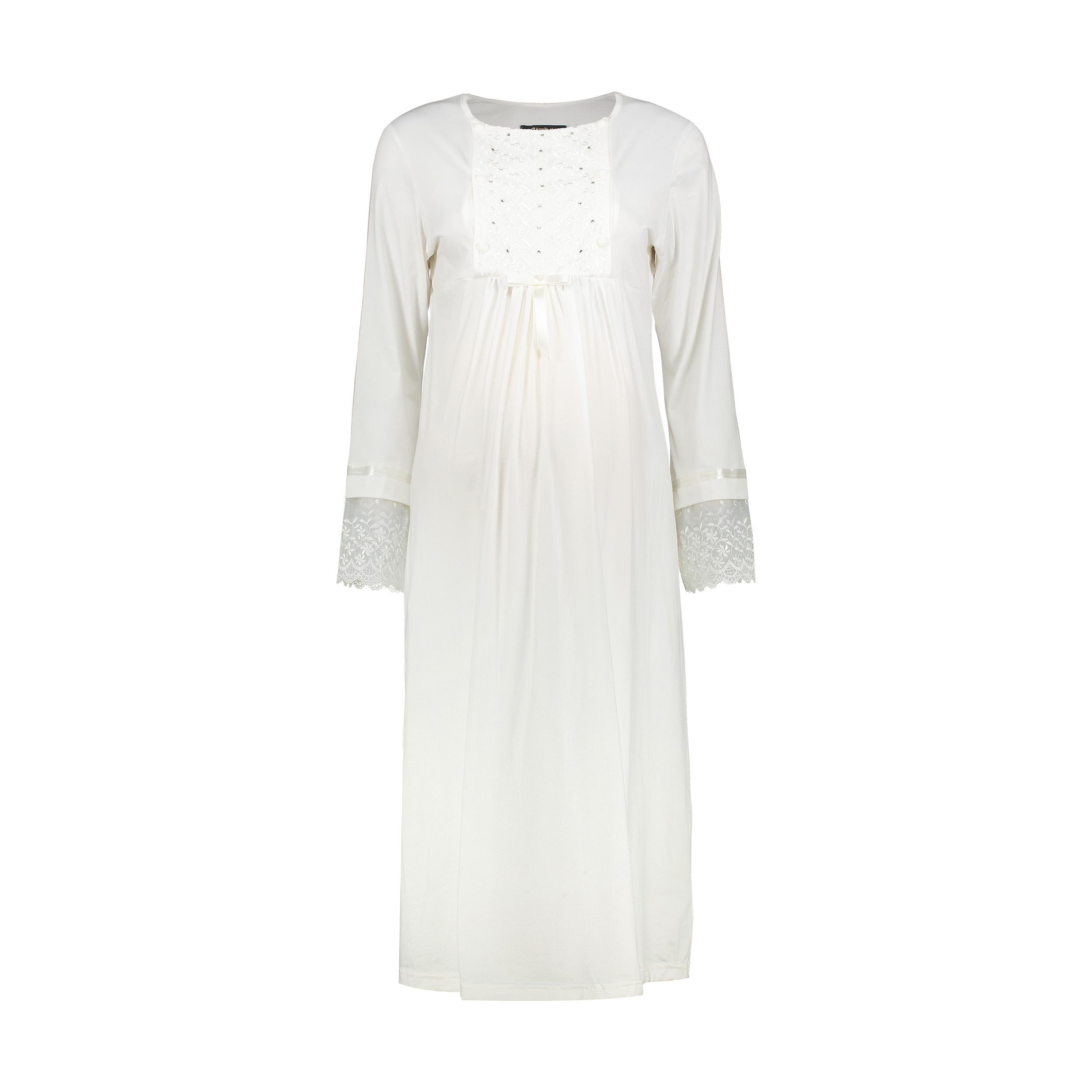 پیراهن بارداری کد 1 رنگ سفید