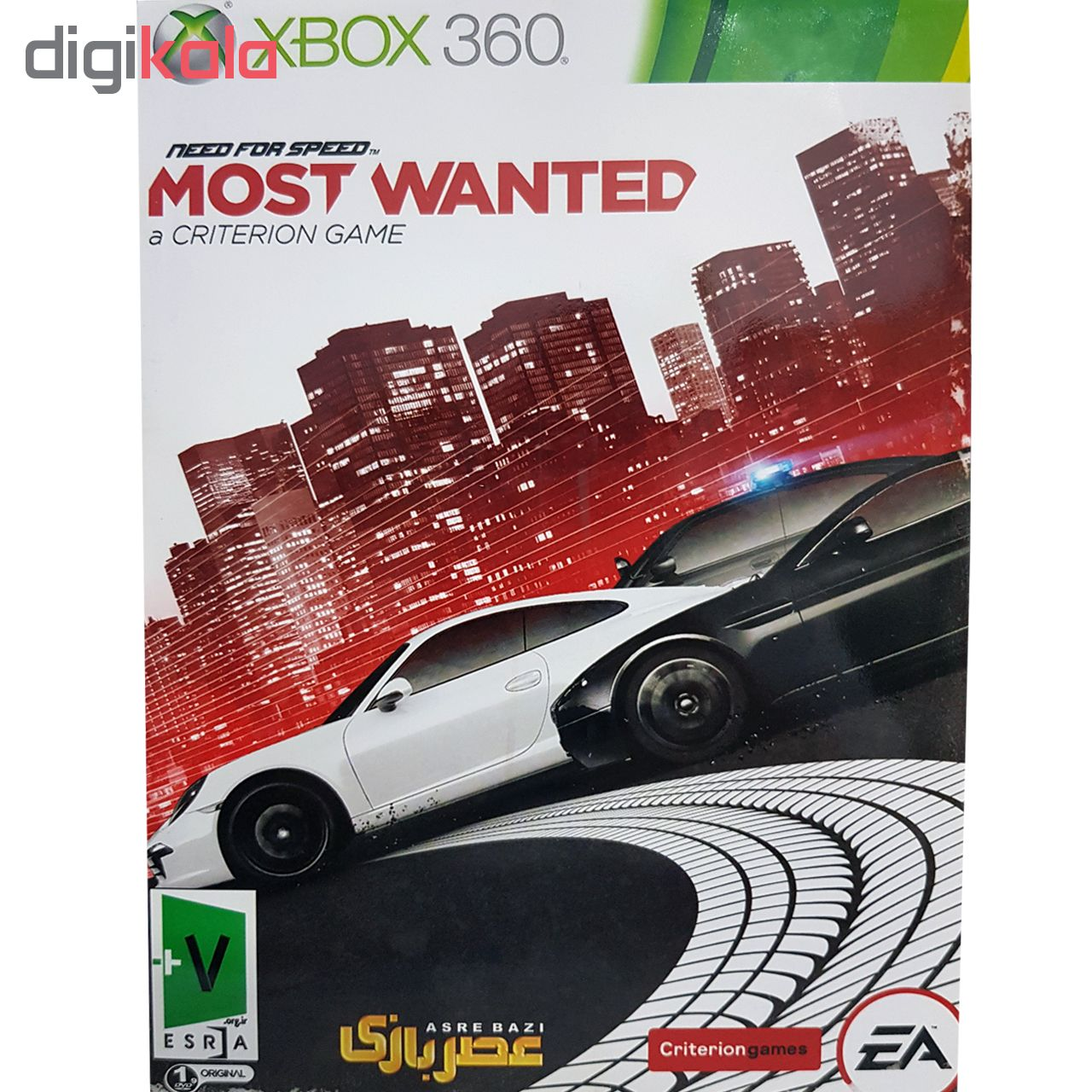 بازی Need for Speed Most Wanted مخصوص xbox 360 نشر عصر بازی
