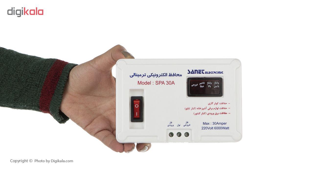 خرید                                     محافظ ولتاژ آنالوگ صانت الکترونیک مدل SPA30A مناسب برای کولرگازی