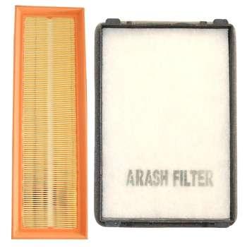 فیلتر کابین خودرو آرش مدل LF405 Plus مناسب برای پژو پارس به همراه فیلتر هوا