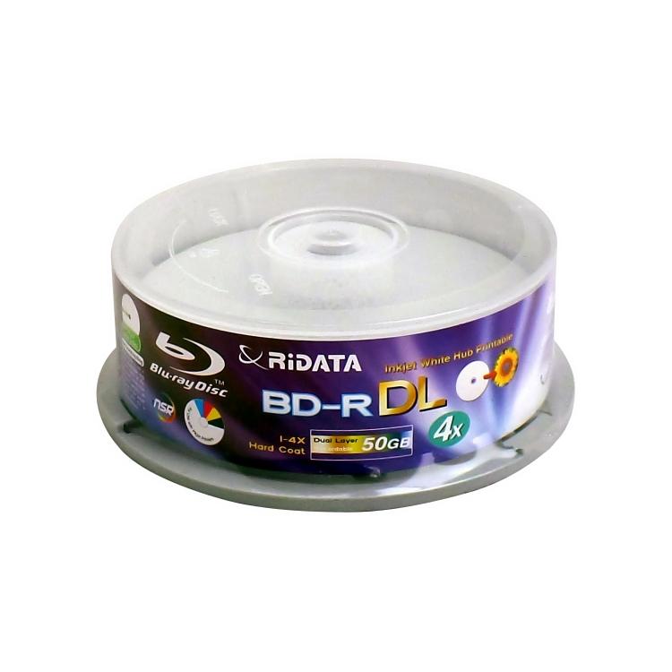 بلو ری خام ری دیتا مدل BD-R DL با ظرفیت 50 گیگابایت بسته 15 عددی