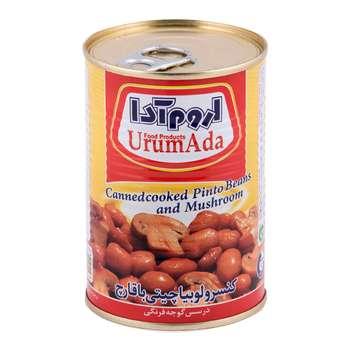 کنسرو لوبیا چیتی با قارچ در سس گوجه فرنگی اروم آدا مقدار 400 گرم