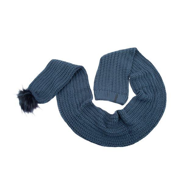 کلاه بافتنی مردانه تارتن کد 2704 رنگ آبی