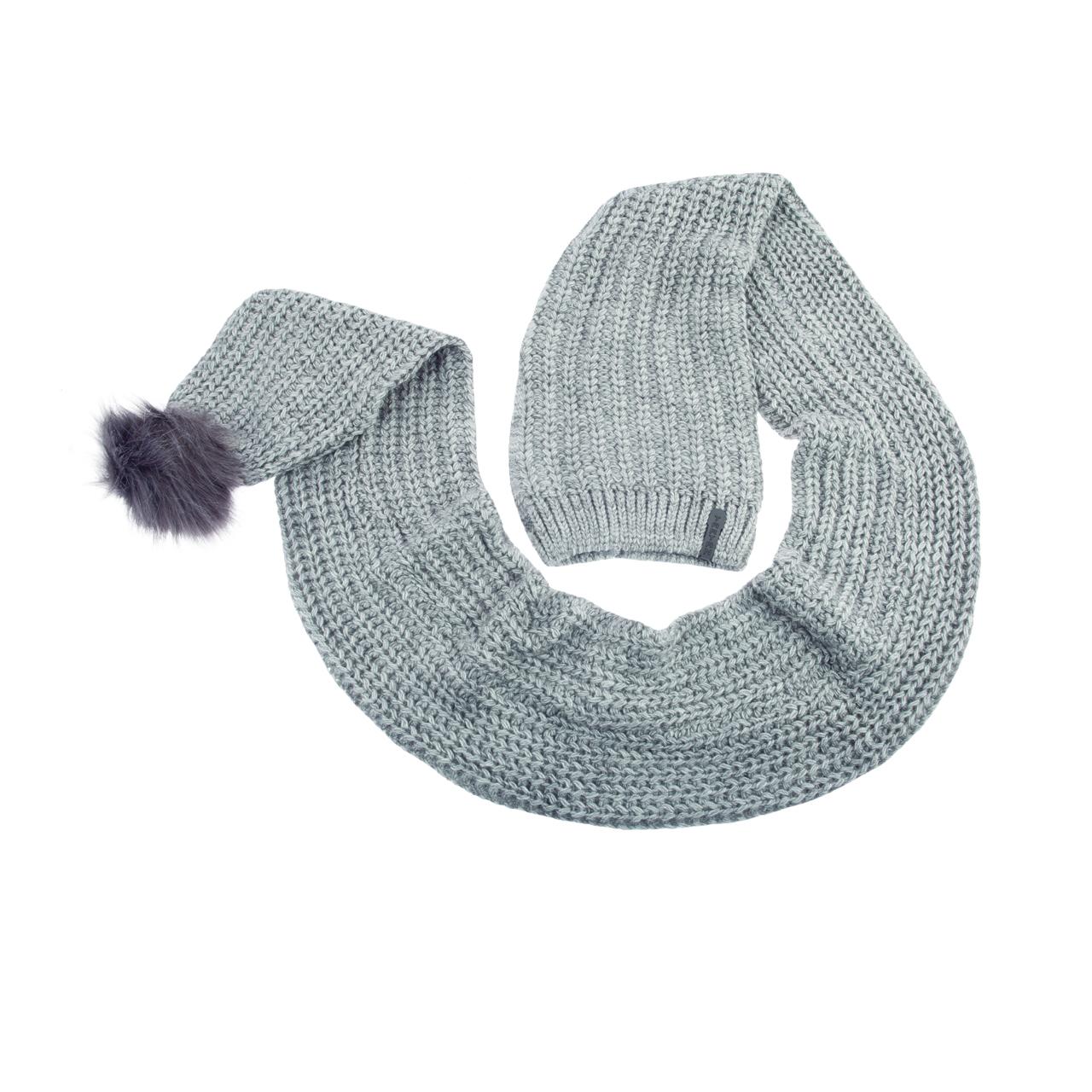کلاه بافتنی مردانه تارتن کد 2704 رنگ طوسی روشن