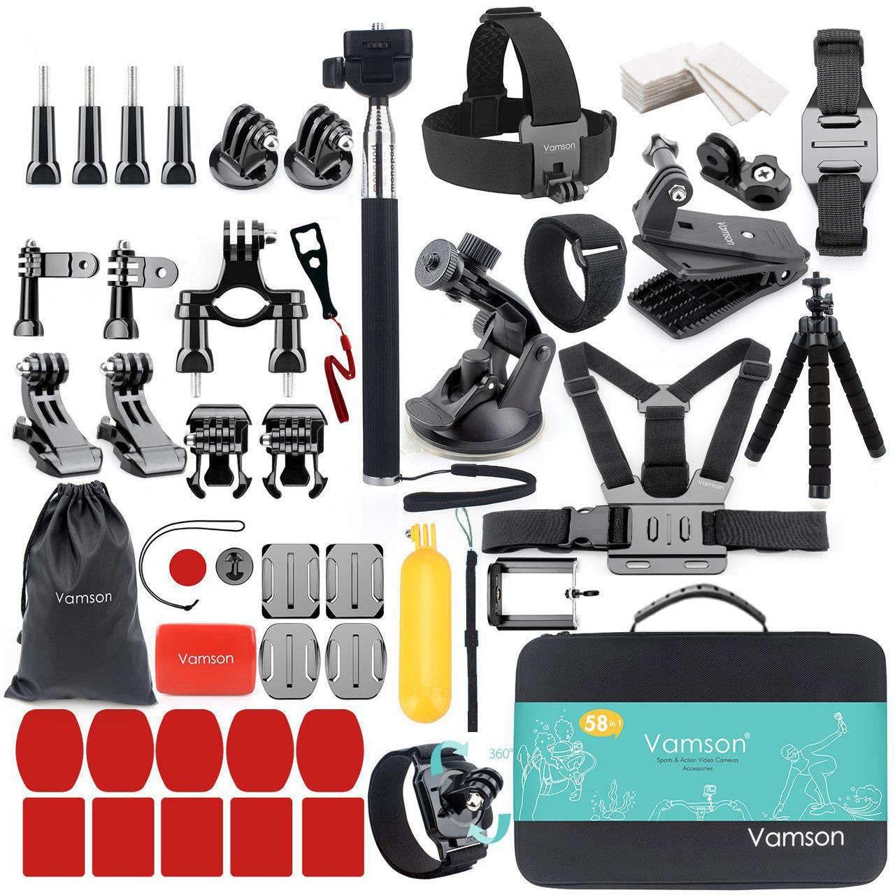 لوازم جانبی دوربین ورزشی ومسان مدل VS84 مجموعه 58 عددی