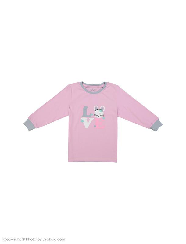 ست تی شرت و شلوار راحتی دخترانه ناربن مدل 1521166-8490