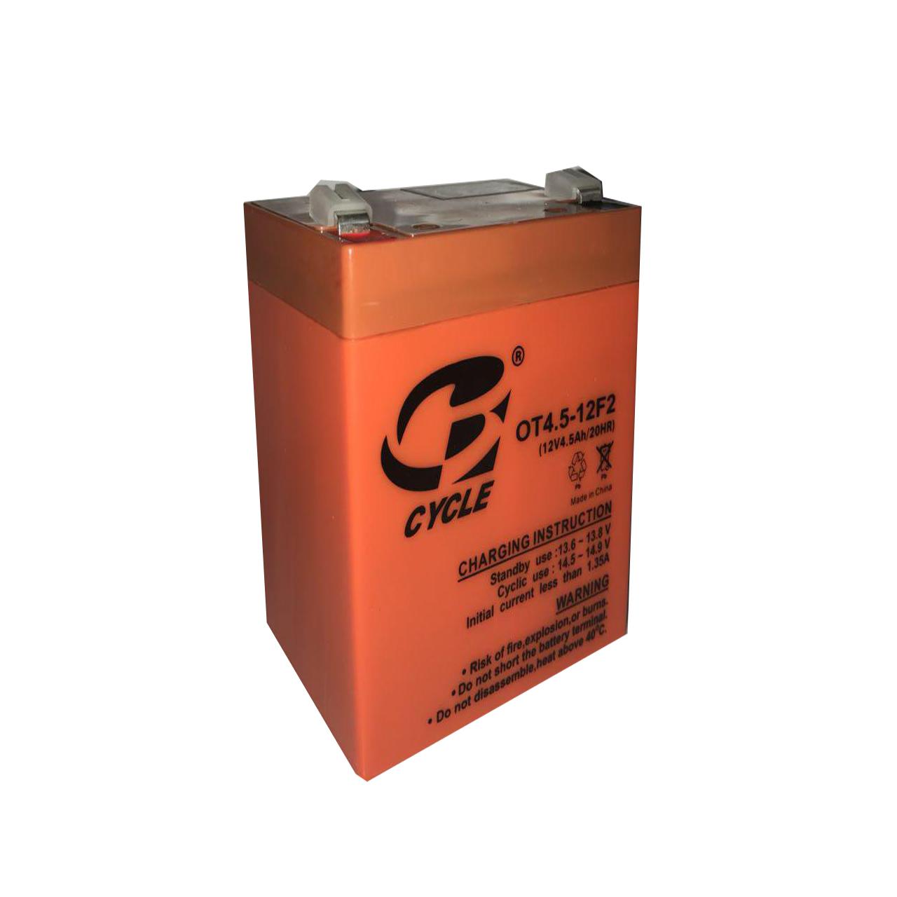 باتری یو پی اس  12 ولت 4.5 آمپر ساعت سایکل مدل CY 12-4.5