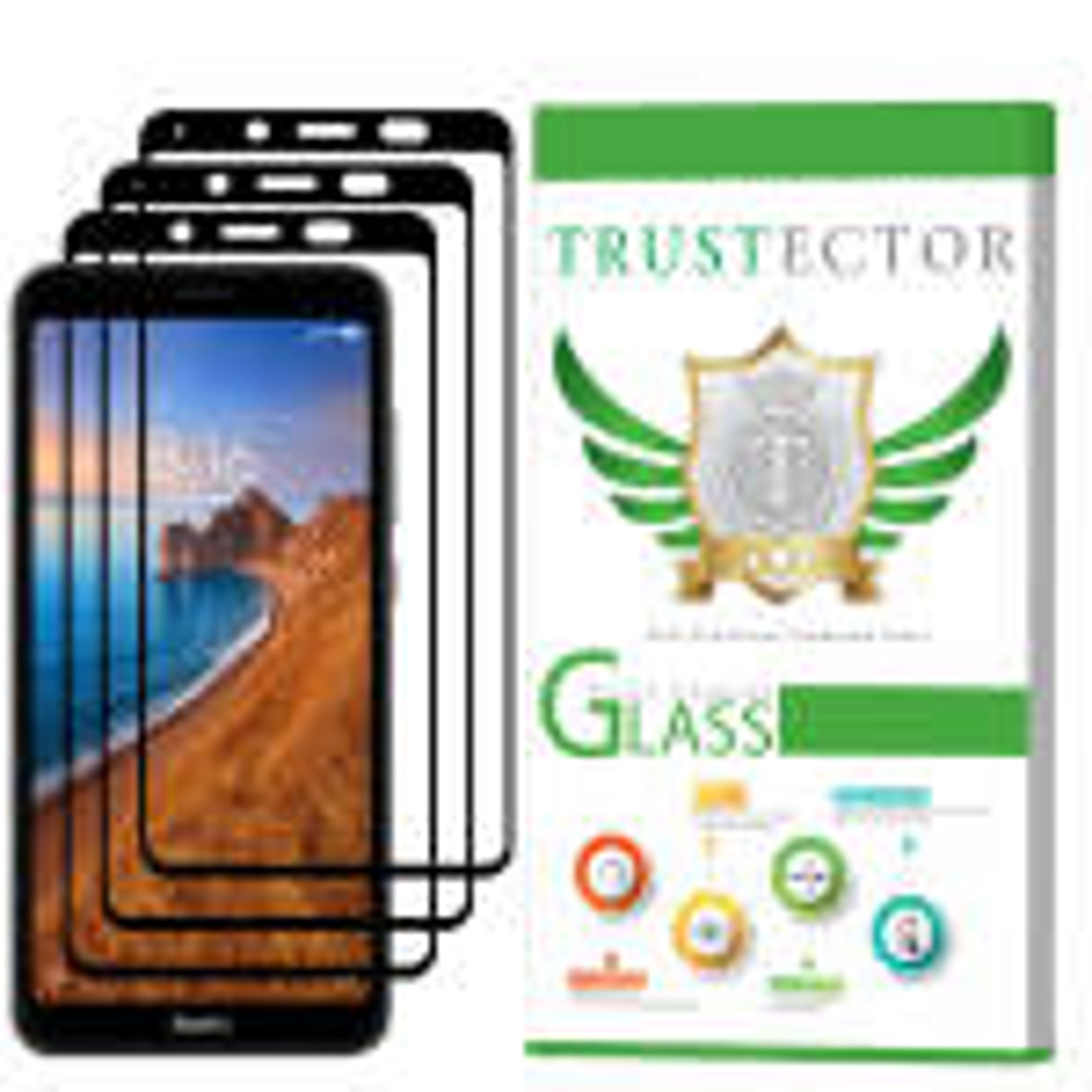 محافظ صفحه نمایش تراستکتور مدل GSS مناسب برای گوشی موبایل شیائومی Redmi 7A بسته 3 عددی thumb