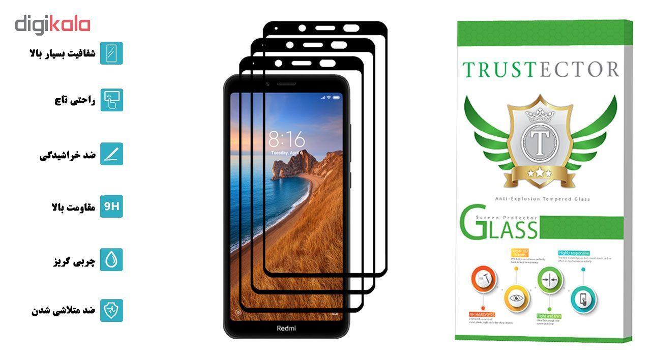 محافظ صفحه نمایش تراستکتور مدل GSS مناسب برای گوشی موبایل شیائومی Redmi 7A بسته 3 عددی main 1 2