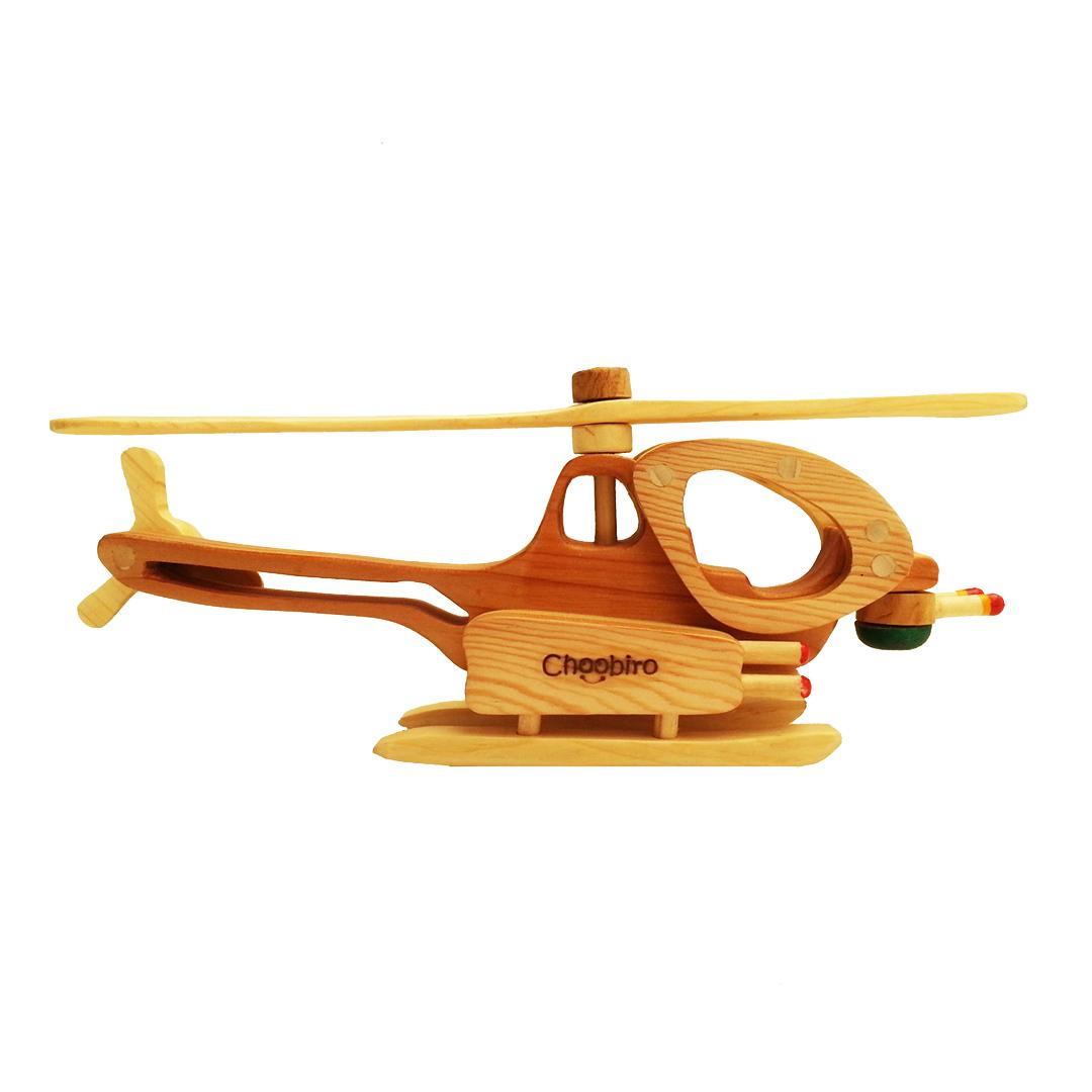 اسباب بازی چوبی چوبیرو مدل هلیکوپتر کد H64