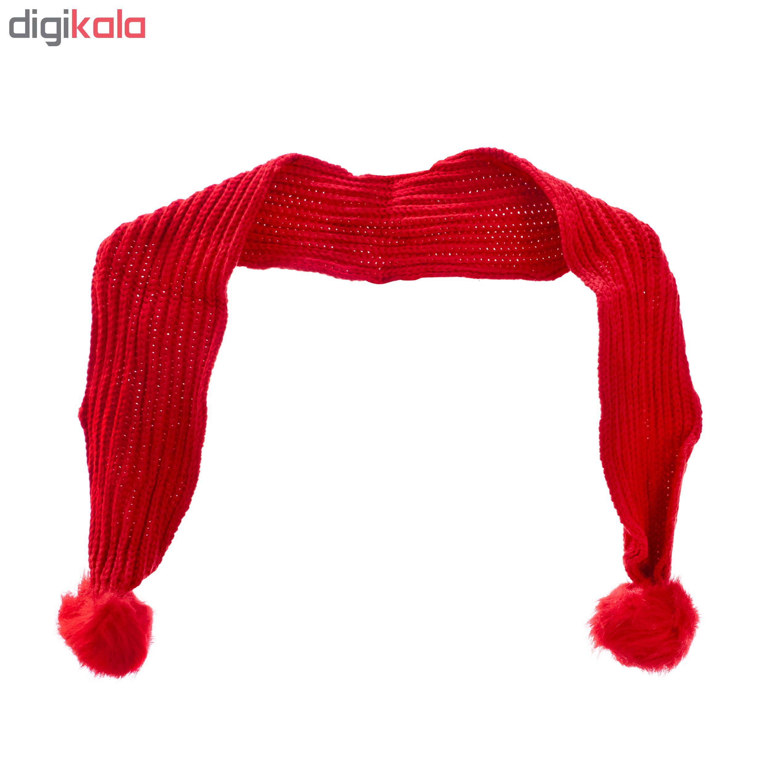 ست کلاه و شال گردن بافتنی کد BZOL-3