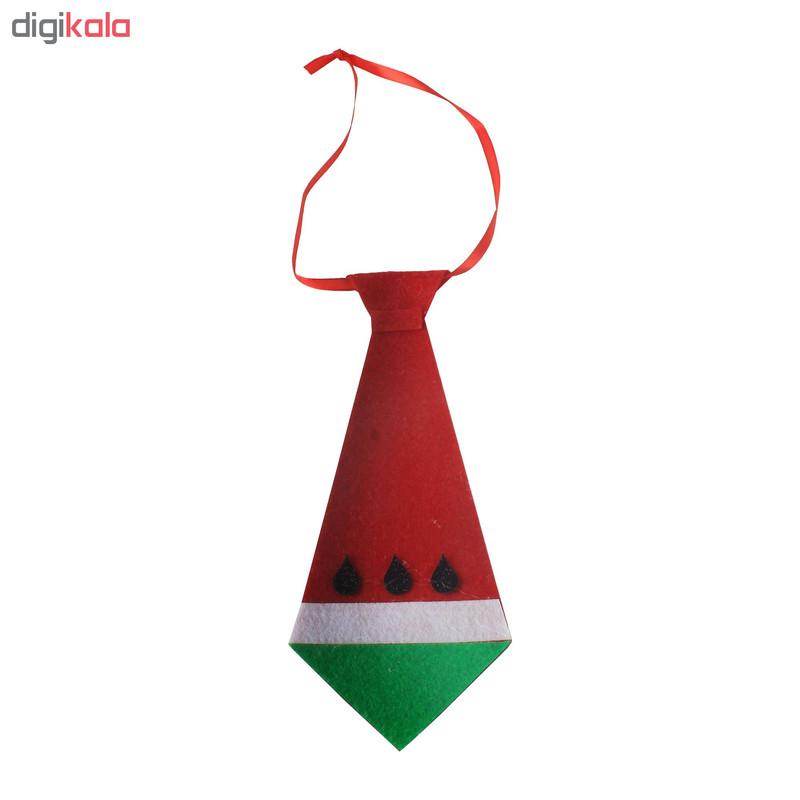 کراوات پسرانه مدل یلدا طرح هندوانه کد 2