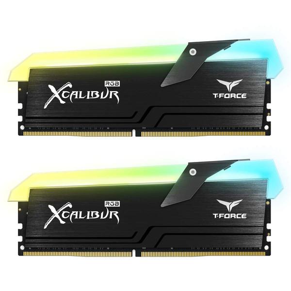 رم دسکتاپ DDR4 دو کاناله 3600 مگاهرتز CL18  تیم گروپ مدل XCALIBUR RGB ظرفیت 16 گیگابایت