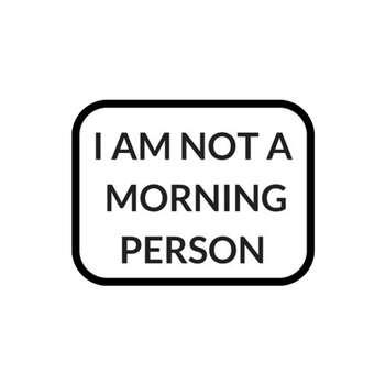 استیکر لپ تاپ طرح من شخص صبحگاهی نیستم کد 52