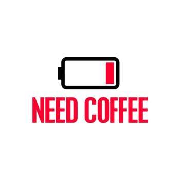 استیکر لپ تاپ طرح قهوه لازم کد 53