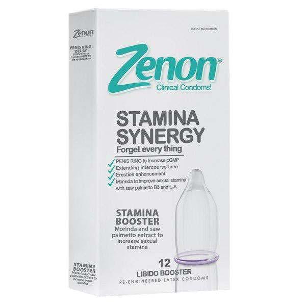 کاندوم زنون مدل stamina synegy بسته 12 عددی