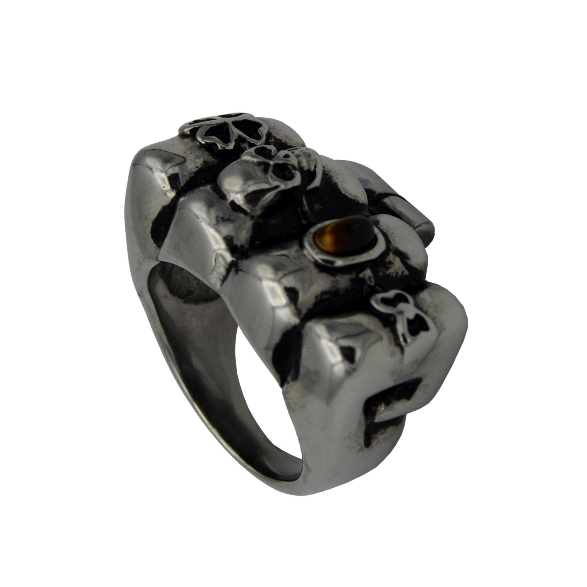 انگشتر مردانه طرح Hand-Skull کد St-50