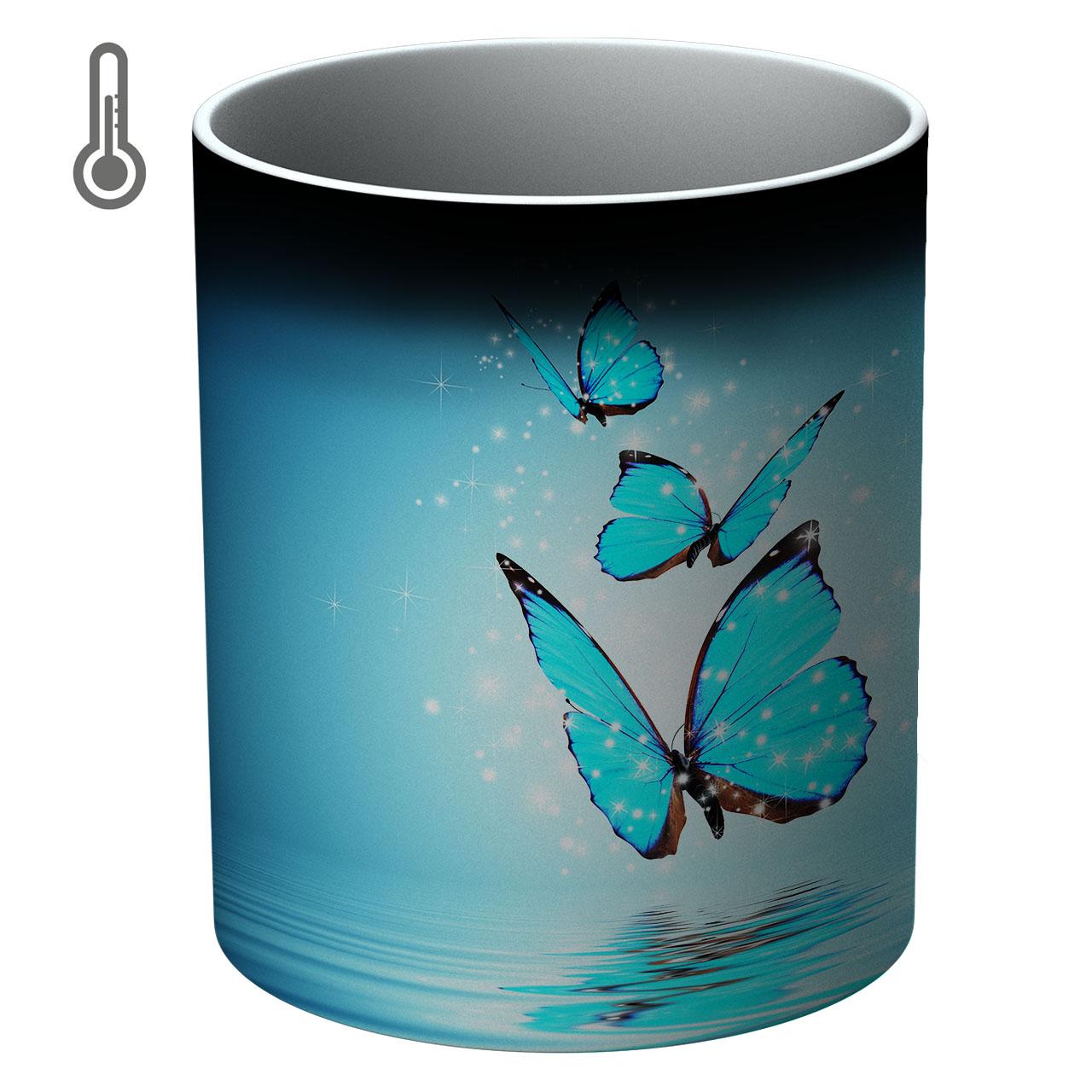 ماگ حرارتی طرح پروانه ها مدل 00072 Fly