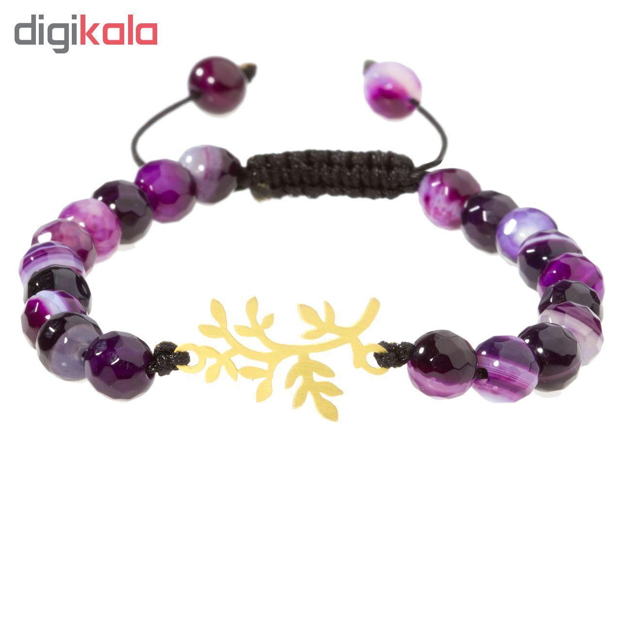 دستبند طلا 18 عیار زنانه اقلیمه کد DT172 -  - 6