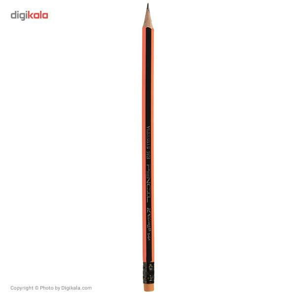 مداد مشکی یالانگ طرح راه راه بسته 12 عددی main 1 4