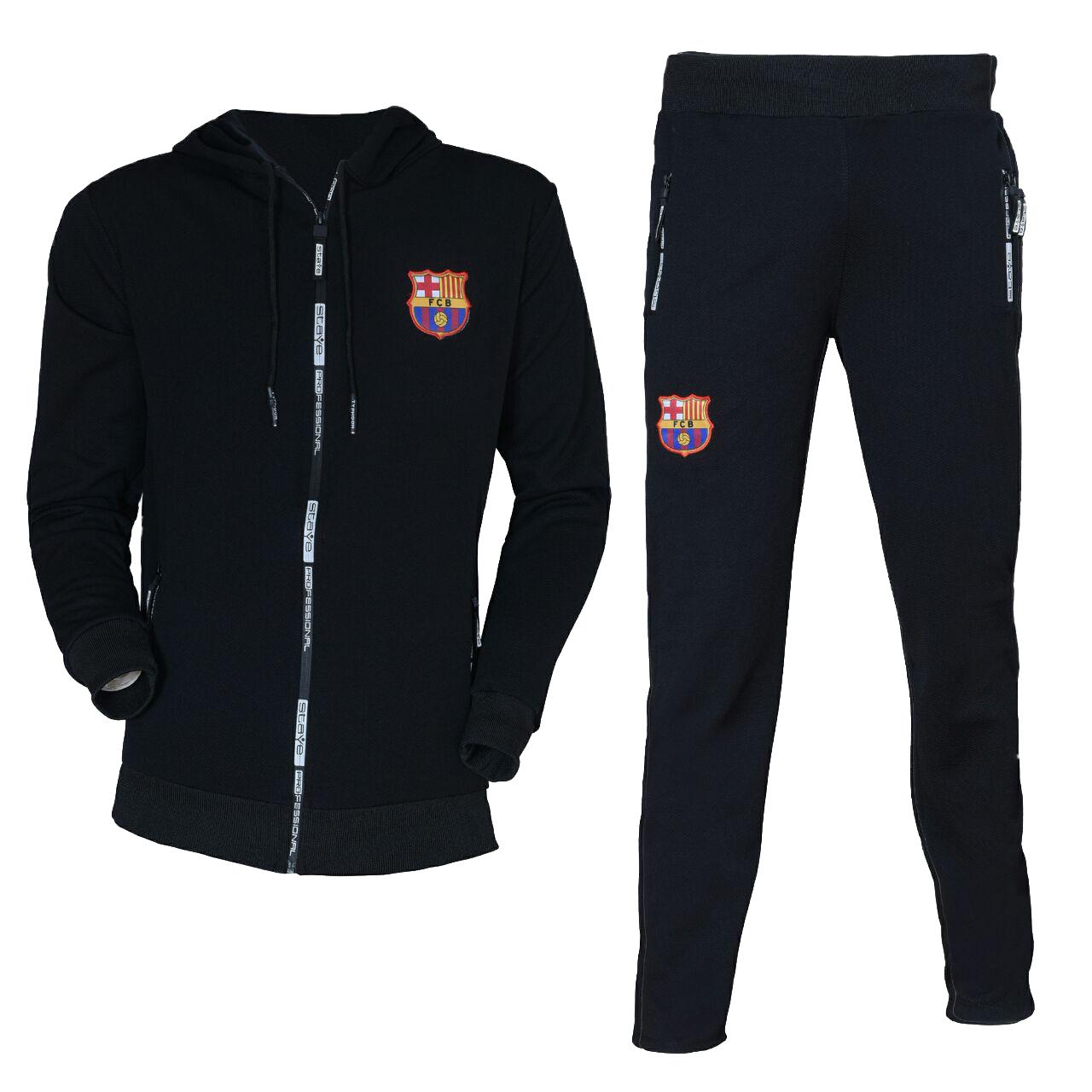 ست سویشرت و شلوار ورزشی مردانه طرح بارسلونا کد 5467