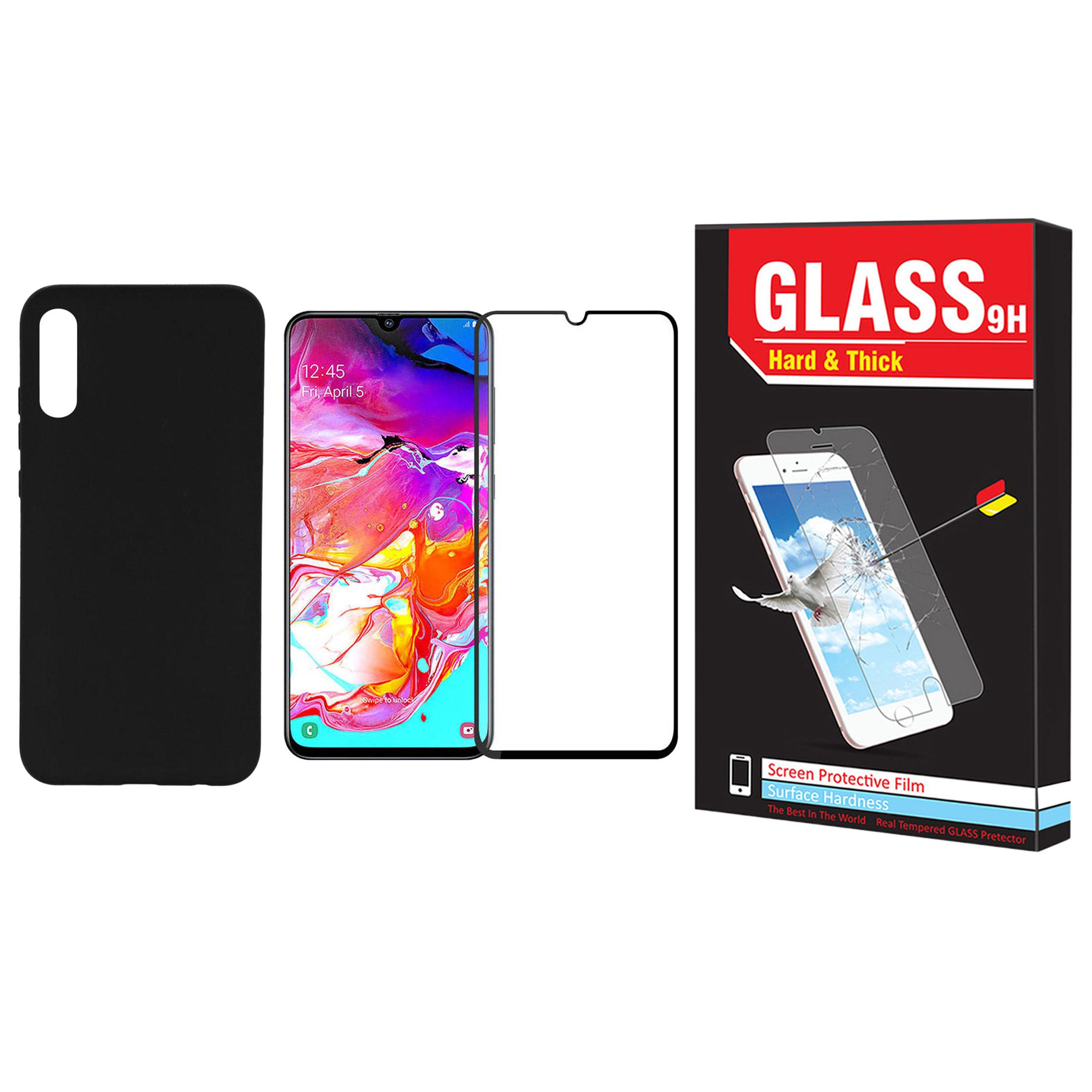 کاور مدل F-01 مناسب برای گوشی موبایل سامسونگ Galaxy A50s به همراه محافظ صفحه نمایش Hard and thick مدل F-02