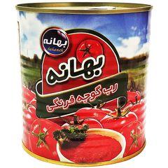 رب گوجه فرنگی بهانه مقدار 800 گرم