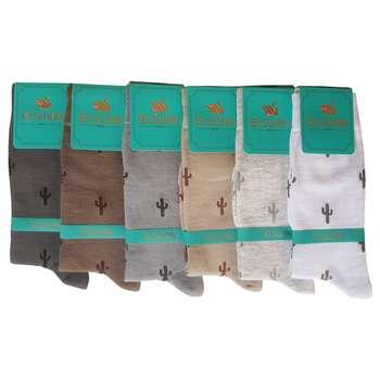 جوراب مردانه ال سون طرح کاکتوس کد PH252 مجموعه 6 عددی
