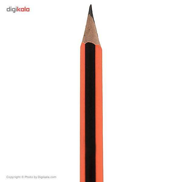 مداد مشکی یالانگ طرح راه راه بسته 12 عددی main 1 6