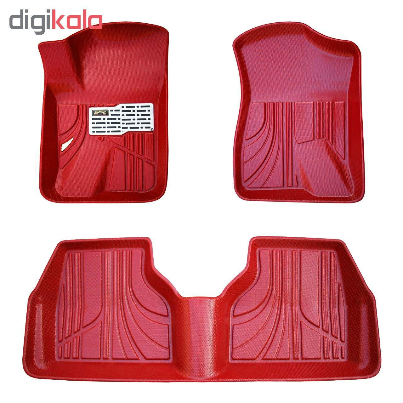 کفپوش سه بعدی خودرو مکس مدل K009 مناسب برای سمند main 1 3