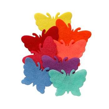 الگو نمد طرح پروانه مدل ONP10 بسته 8 عددی