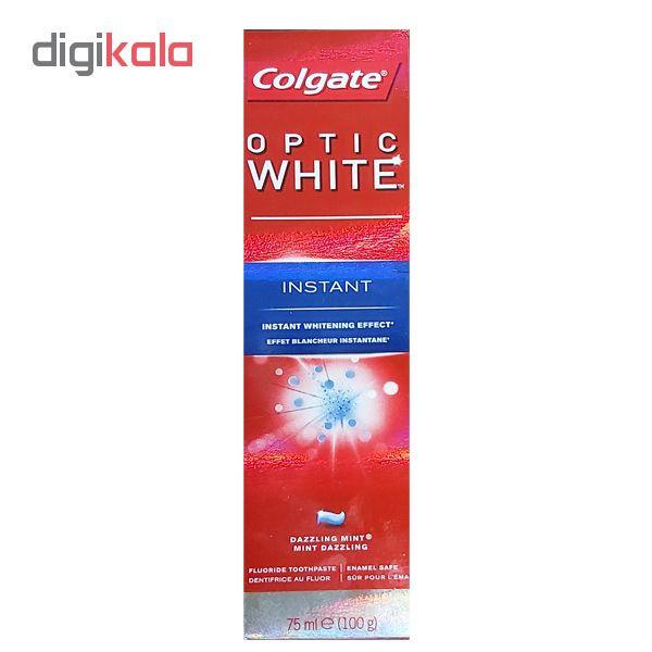 خمیر دندان کلگیت سری Optic White مدل instant حجم 75 میلی لیتر