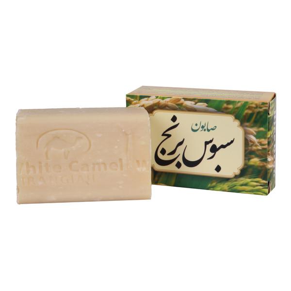 صابون شستشو ایران گیاه مدل شیر و سبوس برنج 100 گرم