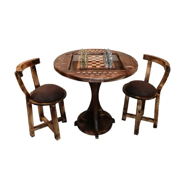 میز و صندلی شطرنج چوبر کد 003