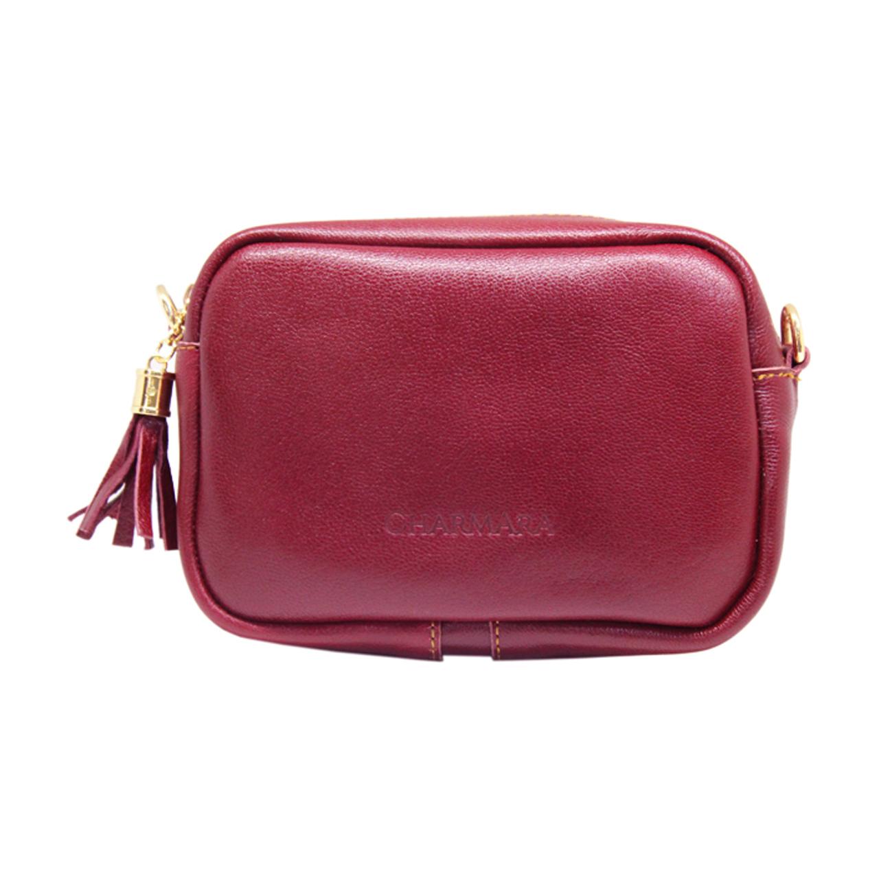 کیف دوشی زنانه چرم آرا مدل d058