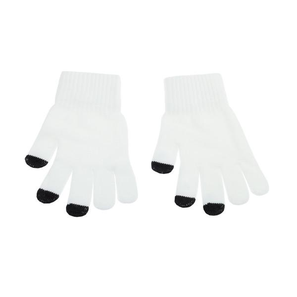دستکش بافتنی تارتن مدل 440 رنگ سفید
