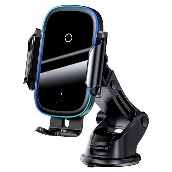 پایه نگهدارنده و شارژر بی سیم گوشی موبایل باسئوس مدل WZHW03