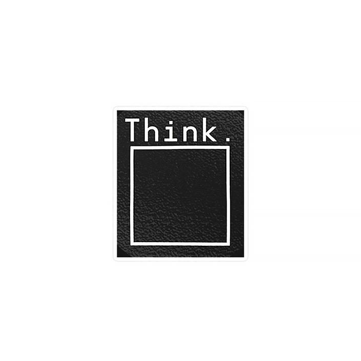 استیکر لپ تاپ ماسا دیزاین طرح think outside the box مدل STK499
