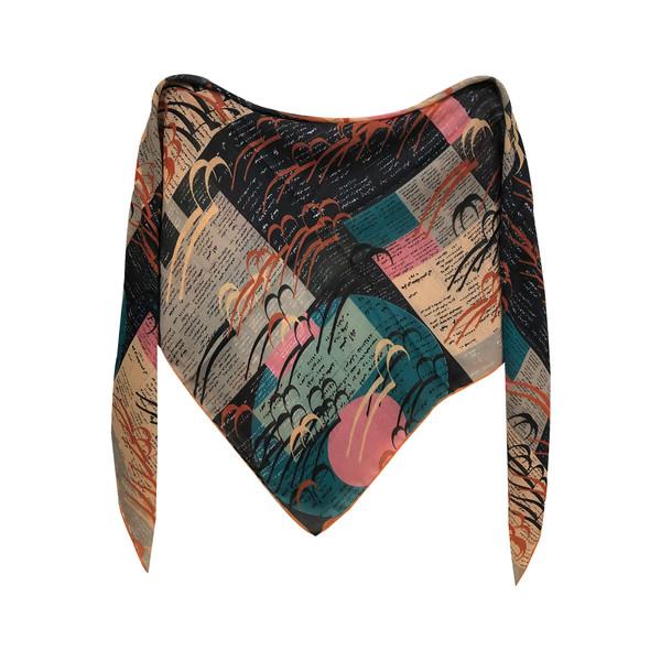 روسری زنانه طرح روزنامه کد nar654