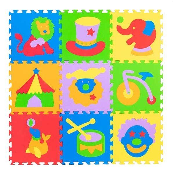 تشک بازی طرح شناخت اشکال مدل سیرک بسته 9 عددی