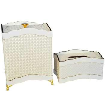 ست سطل و جا دستمال کاغذی مدل HW-01