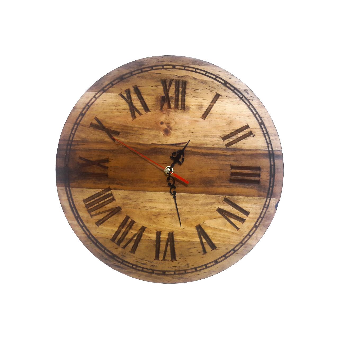 ساعت دیواری چوبی کوارتز مدل HIZOM