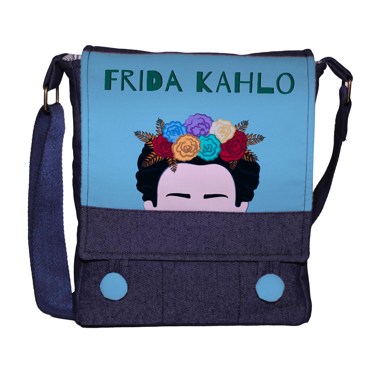 کیف دوشی زنانه گالری چی چاپ طرح فریدا کالو کد 65816