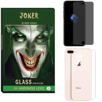 محافظ صفحه نمایش حریم شخصی و پشت گوشی جوکر مدل FUM-01 مناسب برای گوشی موبایل اپل Iphone 8plus